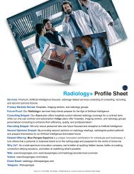 Radiology+ Profile Sheet