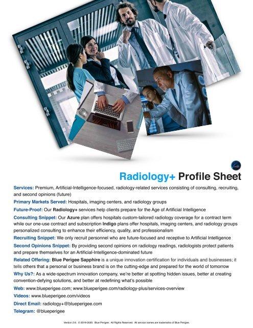 Radiology+ Profile Sheet