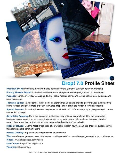 Drop! 7.0 Profile Sheet