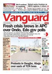 21052020 - Fresh crisis brews in APC over Ondo, Edo gov polls