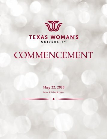 TWU Virtual Commencement Program Spring 2020