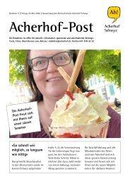 Acherhof-Post Nr. 9   22. Mai 2020
