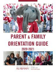 2020 Parent and Family Orientation Guide