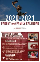 2020 Parent and Family Calendar