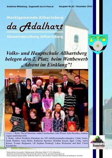 Volks- und Hauptschule Allhartsberg belegen den 2. Platz beim ...