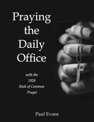 Praying the Daily Office with the 1928 Book of Common Prayer