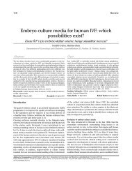 Embryo culture media for human IVF: which ... - JournalAgent