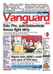 22052020 - Edo: Pro, anti-Oshiomhole forces fight dirty