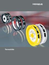 Thermodrähte - Heraeus Materials Technology