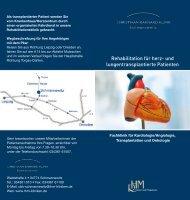 und lungentransplantierte Patienten - Christiaan-Barnard-Klinik