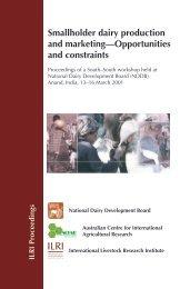 Pakistan smallholder dairy production and marketing - International ...