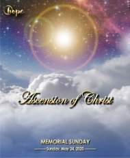 May 24, 2020 Bulletin Ascension Memorial Sunday