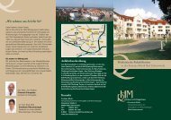 Info-Flyer Medizinische Rehabilitation in der Fontana-Klinik