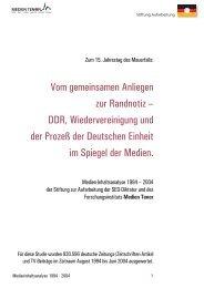 Medien Tenor - Bundesstiftung zur Aufarbeitung der SED-Diktatur