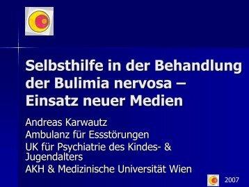 Selbsthilfe in der Behandlung der Bulimia nervosa – Einsatz neuer ...