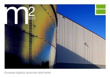 European logistics vacancies+land banks - Goodman