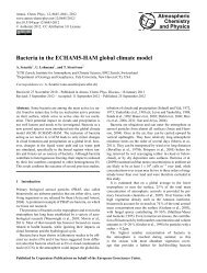 Bacteria in the ECHAM5-HAM global climate model - Atmospheric ...