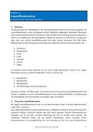 Laserdiffraktometrie - Pharmazie-Lehrbuch