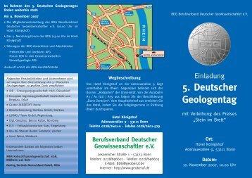 5. Deutscher Geologentag - DGG