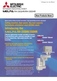 MELFA RH-3SQHR/RH-SDHR New Products News