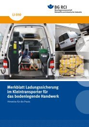 Merkblatt Ladungssicherung im Kleintransporter für das ...