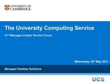 RH - University of Cambridge Computing Service