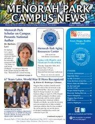 MENORAH PARK CAMPUS NEWS - Menorah Park Center For ...