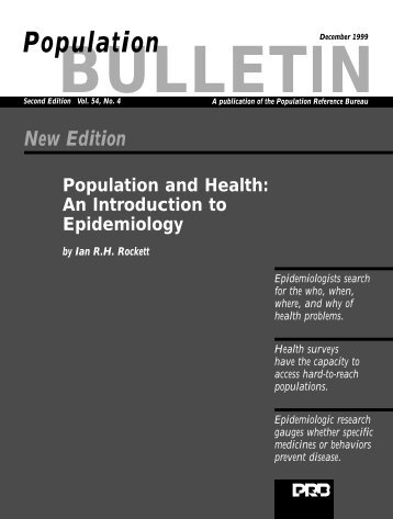 An Introduction to Epidemiology - Population Reference Bureau