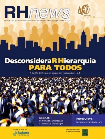 RHnews • outubro2006 • Parceira da ABRH-RJ A RHnews tem o ...