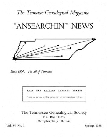 """ANSEARCHIN'"" NEWS - Tennessee Genealogical Society"