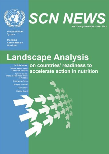 SCN News 37 Landscape Analysis on countries ... - UNSCN