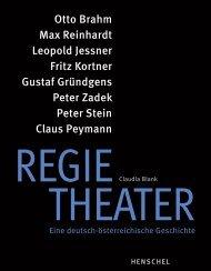 Leseprobe: Regietheater. Eine deutsch-österreichische Geschichte