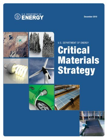 U.S. Department of Energy - Critical Materials Strategy