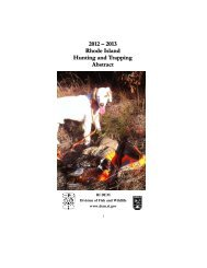 Hunting Abstract - Rhode Island Department of Environmental ...