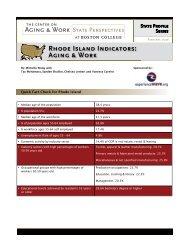 State Profile: Rhode Island - Boston College