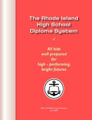 The Rhode Island High School Diploma System
