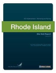 Rhode Island Site Visit Report - Urban Institute