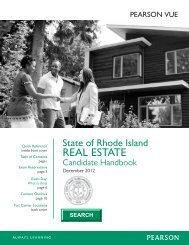 State of rhode island real estate candidate handbook - Pearson VUE