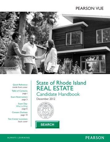 State of rhode island real estate candidate handbook - Pearson VUE