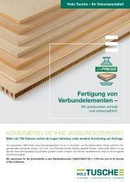 HolzTusche ExPress Verbundelemente-Service