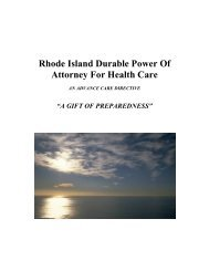 Rhode Island Durable Power Of Attorney For Health Care