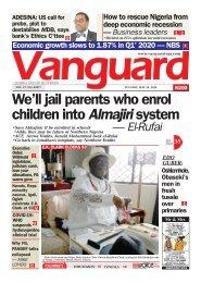 26052020 - We'll jail parents who enrol children into Almajiri system