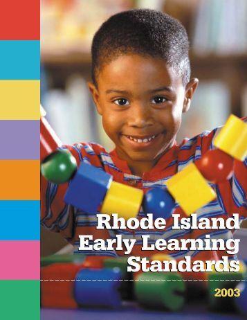 Rhode Island Early Learning Standards - Rhode Island Department ...