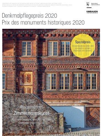 Denkmalpflegepreis 2020