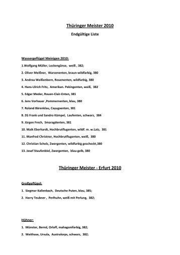 Thüringer Meister 2010 - Landesverband der Thüringer ...