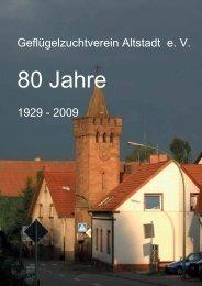 80 Jahre Geflügelzuchtverein Altstadt e.V. hier als PDF
