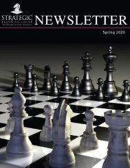 Strategic Planning Group 2020 Spring Newsletter