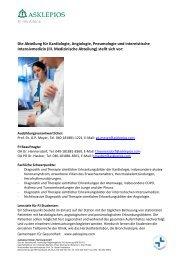 Die Abteilung für Kardiologie, Angiologie, Pneumologie und ... - SciVal