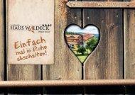 Haus Waldeck Broschüre