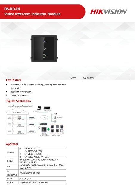 DS-KD-IN_Indicator Module_Datasheet_V1.0.0_20190819